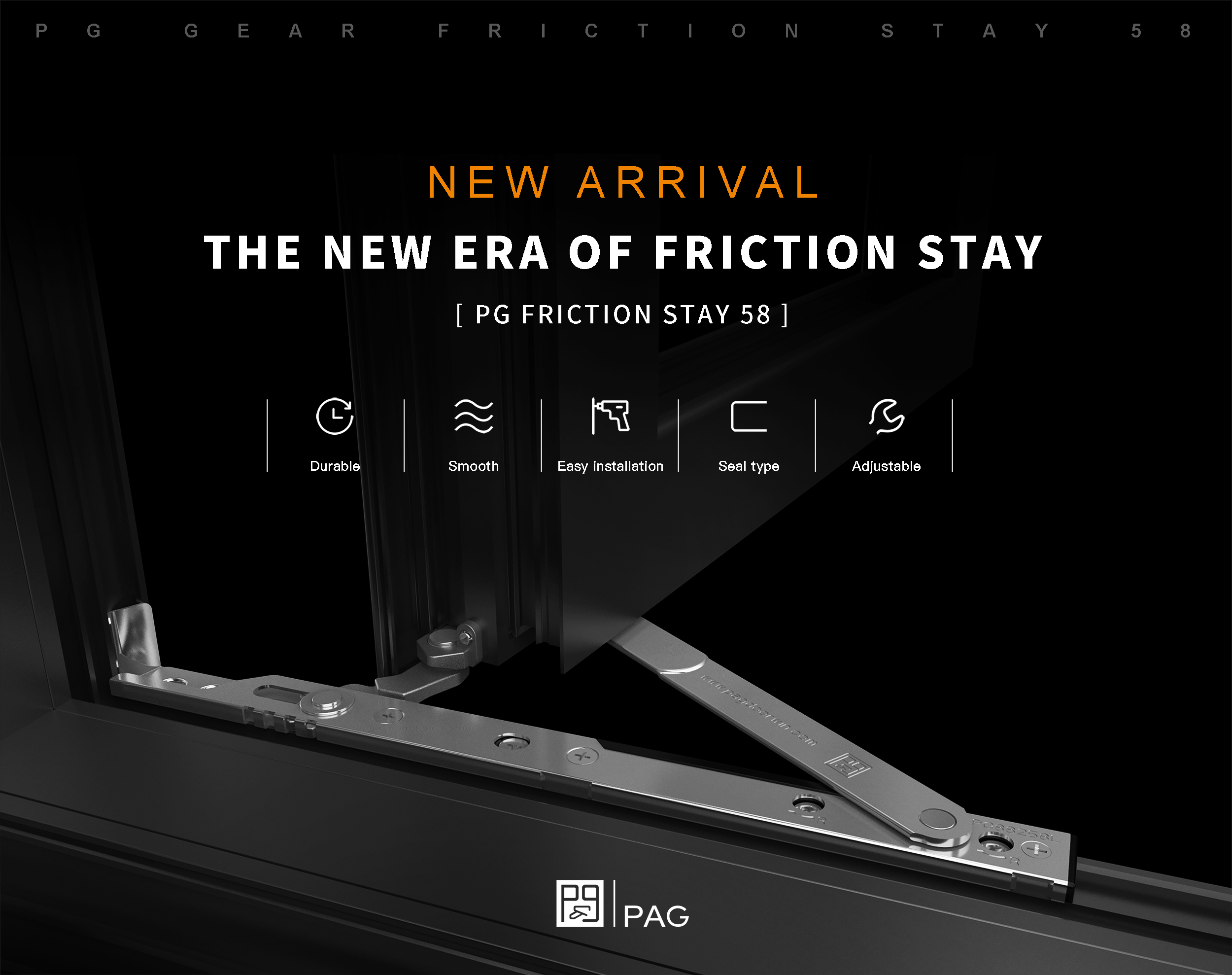 The new era of friction stay--[PG friction stay 58] New Arrival